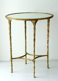Mirrored top is very nice for bringing in some light and bling! Organic Side Table