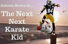 The Steelers' Antonio Brown Karate-Kicked A Punter And The Internet Responded Hilariously