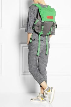 Adidas by Stella McCartney Shell and neoprene-effect backpack, $125, available at Net-A-Porter.