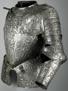 "treasures-and-beauty:  "" Partial unfinished armour, c.1580, in the manner of Lucio Marliani (Piccinino) (1538 - 1607)  """