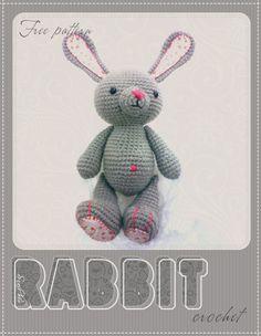 "Rabbit - Free Amigurumi Pattern - PDF File click "" mirror 1"" or "" mirror 2"""