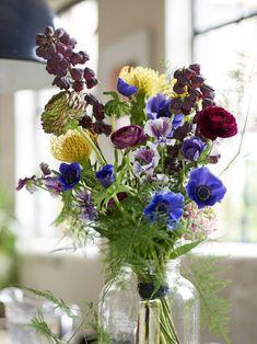 Straußrezept: Color Blocking mit Frühlingsblumen tollwasblumenmachen.de