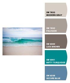 Beach colors. I like these.