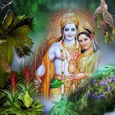 Sri Ram&Sita The case of Radha, who is mostly portrayed as a clandestine lover of the god Krishna, seems to challenge some of the norms the example of Sita has set.