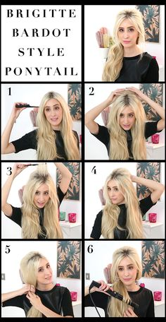 Brigitte Bardot Bouffant Ponytail / Dirty Looks Hair Extensions, Hair Tutorials & Lotsa Gossip Brigitte Bardot, Bridget Bardot Hair, My Hairstyle, Pretty Hairstyles, 60s Hairstyles, Hairstyle Ideas, Medium Hair Styles, Short Hair Styles, Short Hair