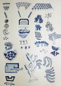 how to draw blue willow | Blue willow china