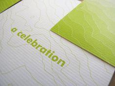 Oh So Beautiful Paper: Carmen + Tj's Bilingual Topographic Map Wedding Invitations