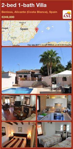 2-bed 1-bath Villa in Benissa, Alicante (Costa Blanca), Spain ►€249,000 #PropertyForSaleInSpain
