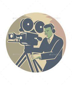 Cameraman Moviemaker Vintage Camera Retro