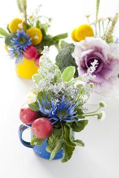 Summer Florals in Enamelware Mugs