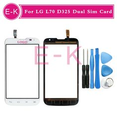 "Original 4.5"" For LG L70 D325 Dual Sim Card Touch Screen Digitizer Sensor Glass Lens Panel Black White + Free Tools"