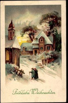 Ak Frohe Weihnachten, Ost im Winterkleid, Schnee, Amag 2108 | eBay