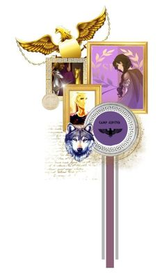 """""""Friends at Camp Jupiter"""" by laniocracy ❤ liked on Polyvore featuring art, jasongrace, heroesofolympus, Reyna and botbfch9"""
