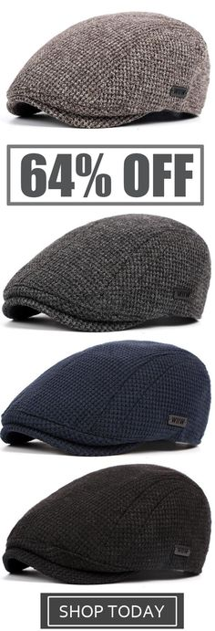 471597066a8a3 Mens Cotton Gatsby Beret Cap Golf Flat Cabbie Hat