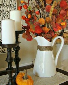 Nice Arrangement To Put In Any Room · Fall Mantle DecorAutumn ... Part 92
