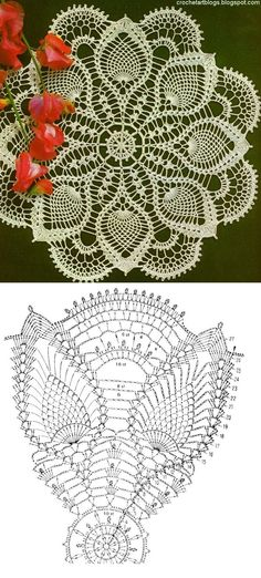 #_LIME Crochet Lace Doily and Diagram Pattern