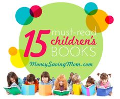 money saving mom, kid books, book lists, read aloud books, mustread children