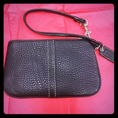 Wristlet wallet One of my favorite wallet. I could put everything (credit cards & discount cards) still in a very good condition no damage at all. Coach Bags Clutches & Wristlets