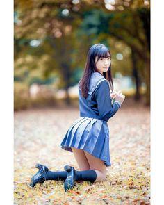 あおいさん(@aoi_sorani) • Instagram写真と動画 Cute Asian Girls, Cute Girls, Cool Girl, Girls Knee High Socks, School Uniform Fashion, School Girl Japan, Cute Japanese Girl, Cosplay, Manga