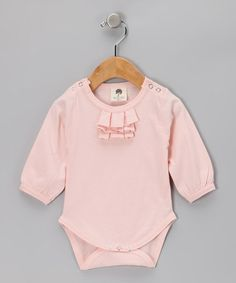 Take a look at this Kate Quinn Peony Pleated Organic Bodysuit - Infant by Simply Organic Collection on #zulily today!