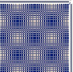 Draft for Double Weave Placemats (double weave view)