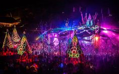 Ozora Festival 2013 - Main Stage at Night