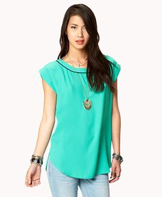 Forever 21 bright yellow/white loose top http://www.forever21.com/Product/Product.aspx?BR=f21=top_blouses=2021840064=