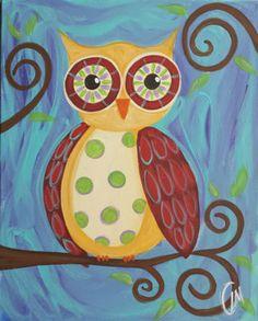 Good morning good night 16x20 Whimsical Owl by LisaMGardinerPbj, $65.00