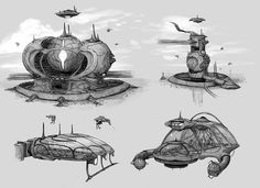 For advanced concept -  For this project we were to imagine a scenario where future humans are oppressed by an outside force. I came up with a world where aliens have come to earth to play a game in which they conquer and control humans to see which team can use them to extract the earth's liquid core. The team of aliens that gets the most of the core by the end of the time limit wins intergalactic wealth and recognition!