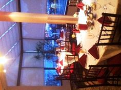 Getting ready for an amazing  dinner in the Garden Room