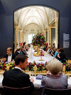 Afscheidsdiner Koningin Beatrix in het Rijksmuseum, 29 april 2013