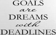 Amazon.com: GOALS ARE DREAMS WITH DEADLINES Vinyl wall quotes inspirational sayings home art decor decal: $4.97