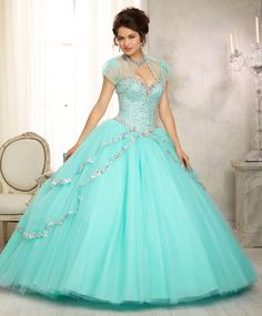 Mori Lee Vizcaya Quinceanera Dress Style 88091 is made for girls who want to look like a beautiful Princess on her Sweet 15. Made out of tulle, this ball gown features a strapless sweetheart neckline
