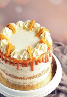 sós karamelles-mascarponés répatorta recept házi törökmézzel Cakes And More, Cheesecakes, Vanilla Cake, Cake Recipes, Food And Drink, Birthday Cake, Xmas, Desserts, Foods