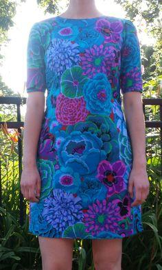 colette patterns floral laurel dress