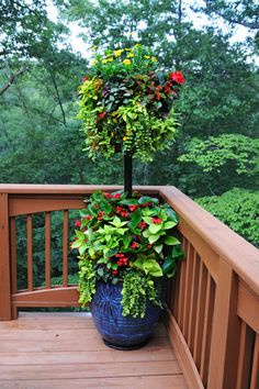 Planting with Basket Column and Planter by Pamela Crawford