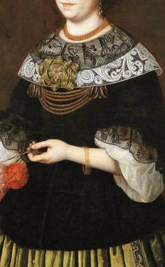 Portrait of a woman- southern german master, 17 th century  - Click to enlarge