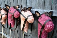 That Village House: DiY Stick Horses - Idea for Maddie's birthday