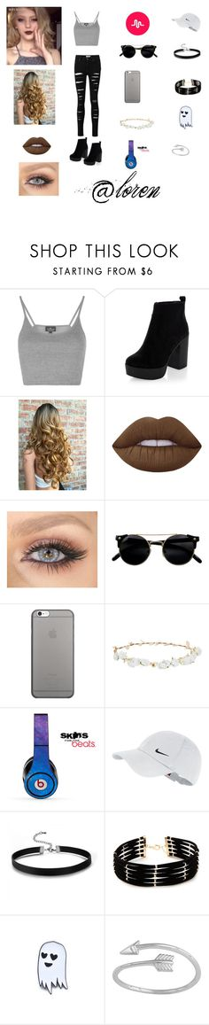 """loren beech"" by tina-a-unicorn ❤ liked on Polyvore featuring Topshop, Lime Crime, Native Union, Robert Rose, Beats by Dr. Dre, NIKE, Forever 21, Sara M. Lyons, musical and lorenbeech"