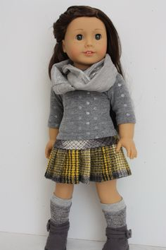 18 inch doll clothes made to fit doll such as American girl or similar dolls, 3 piece outfit by GrandmasDollCloset on Etsy