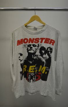 be315f4d 1990s 1995 REM R.E.M MONSTER EURO LONG SLEEVE TOUR T SHIRT #fashion  #clothing #shoes #accessories #vintage #mensvintageclothing (ebay link)
