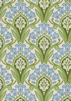 Hyasintti wallpaper for my dining room Textures Patterns, Fabric Patterns, Color Patterns, Stencil Patterns, Pretty Patterns, Vintage Design, Surface Pattern Design, Repeating Patterns, Background Patterns