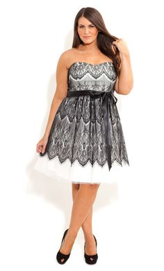 Plus Size Lace Bradshaw Dress - City Chic - City Chic