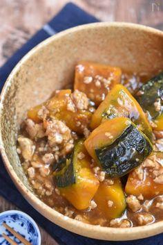 ホクホクのかぼちゃに、あんが絡みご飯おかわり~~♪冷凍保存も可能なので、たくさん作りストックしておくと重宝しますよ~。 Asian Recipes, Healthy Recipes, Ethnic Recipes, Easy Recipes, Ground Meat, Japanese Food, Pot Roast, Food To Make, Curry