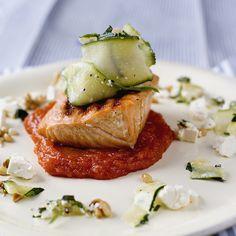 laks med søt tomatsaus 2