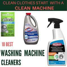 With Washing machine cleaners your laundry room will be fresh again and your machine will be as good as new. Check here to know the best cleaners Best Washing Machine Cleaner, Best Cleaner, Clean Washing Machine, Clean Machine, Deep Cleaning, Health Remedies, Spray Bottle, Deodorant, Washer