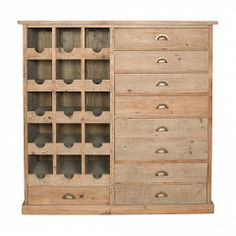Cloakroom wine rack with 7 drawers, 2 double depth - Trade Secret