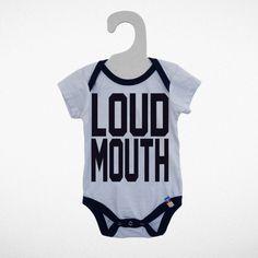 Loud mouth onesie
