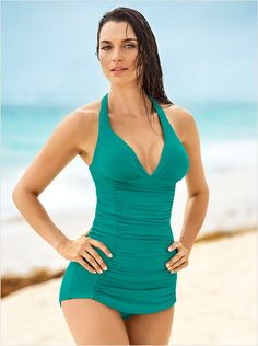 02e94302b33 the ruched shaping one-piece bathing suit-692- Green-MainImage One Piece