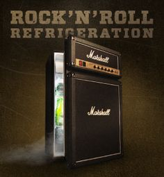 Rock and Roll Refrigeration.  $400     From the main stage to the man cave, the Marshall Fridge was born to rock. Discover more before you add it to your rider.